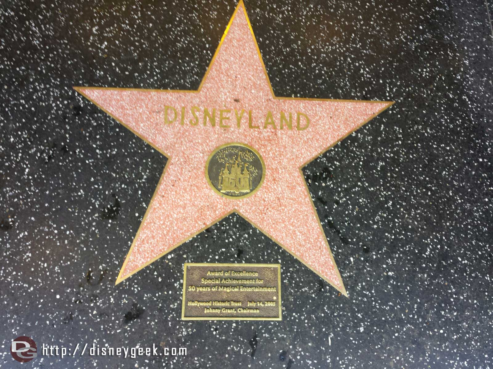 The #Disneyland star is at the entrance to the Studio Store