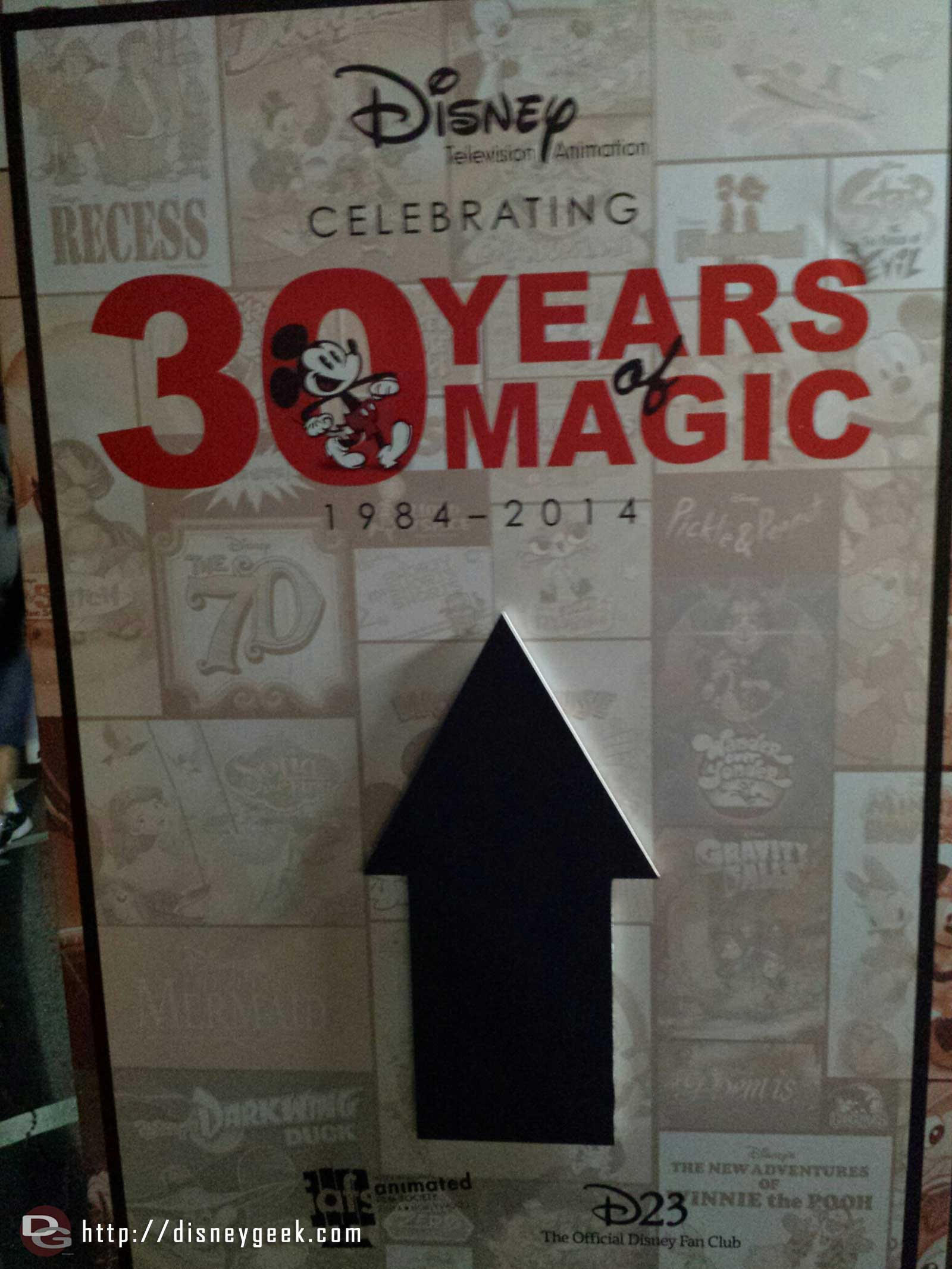 At the Disney Studios for the Disney Television Animation 30 Years of Magic event