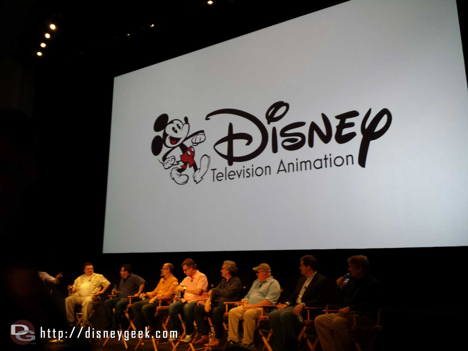 The panel for tonight's Disney Television Animation & @DisneyD23 event
