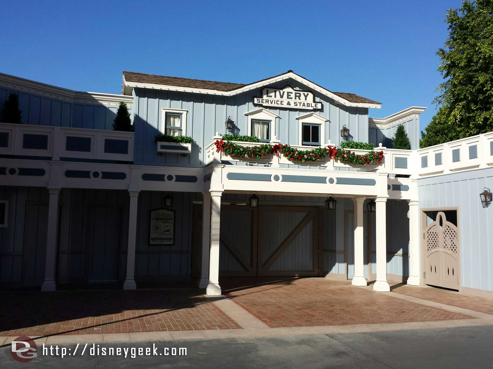 Decorations are up on Main Street and the new corridor facade is complete