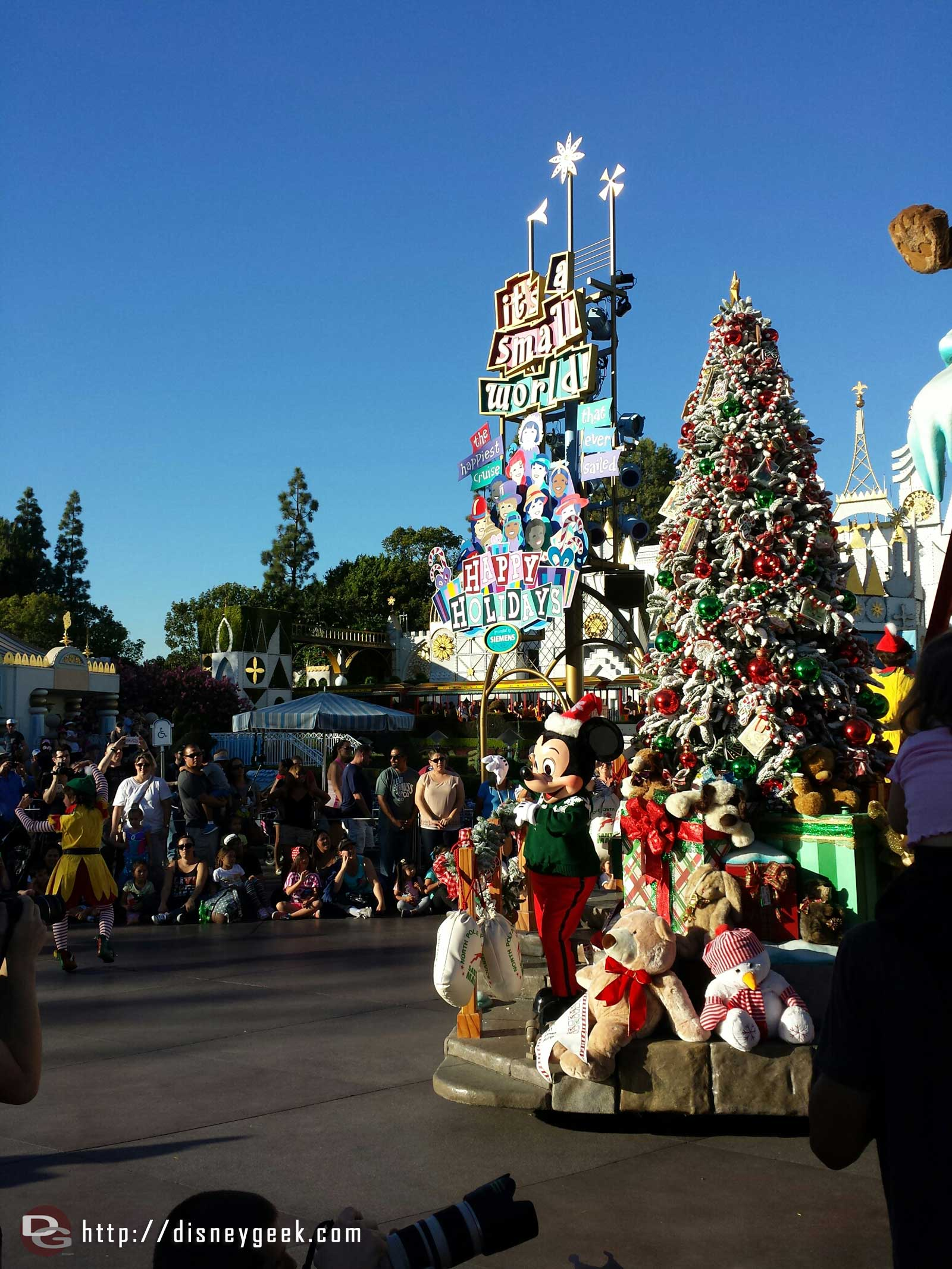 Mickey and Minnie are on the mail room float this year