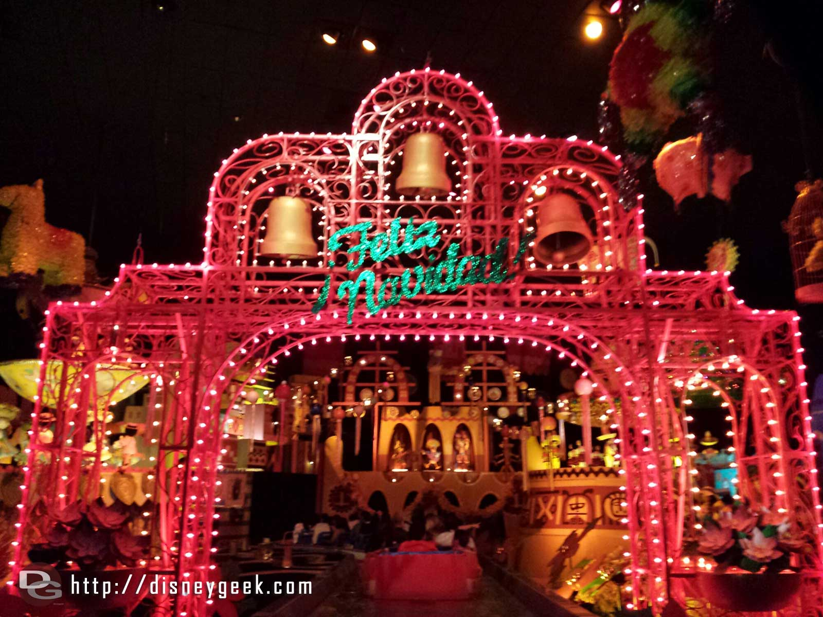 Feliz Navidad – A new bell structure it's a Small World Holiday #Disneyland
