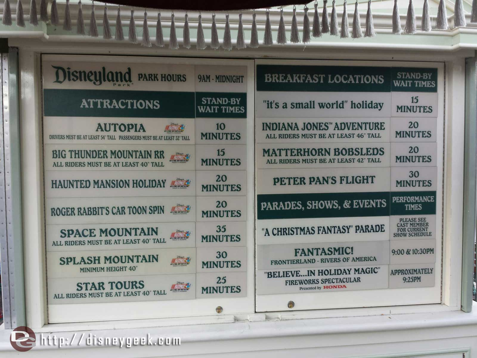 #Disneyland waits as of 4:23pm