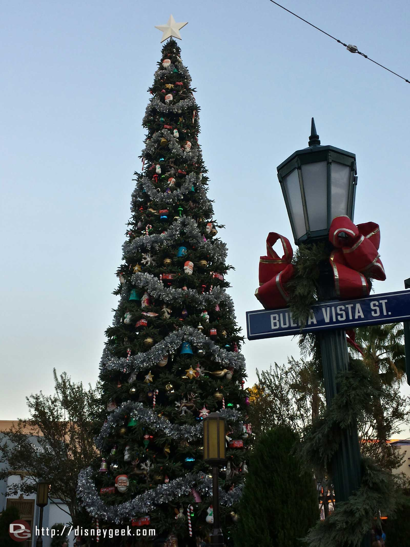 The Christmas tree on #BuenaVistaStreet