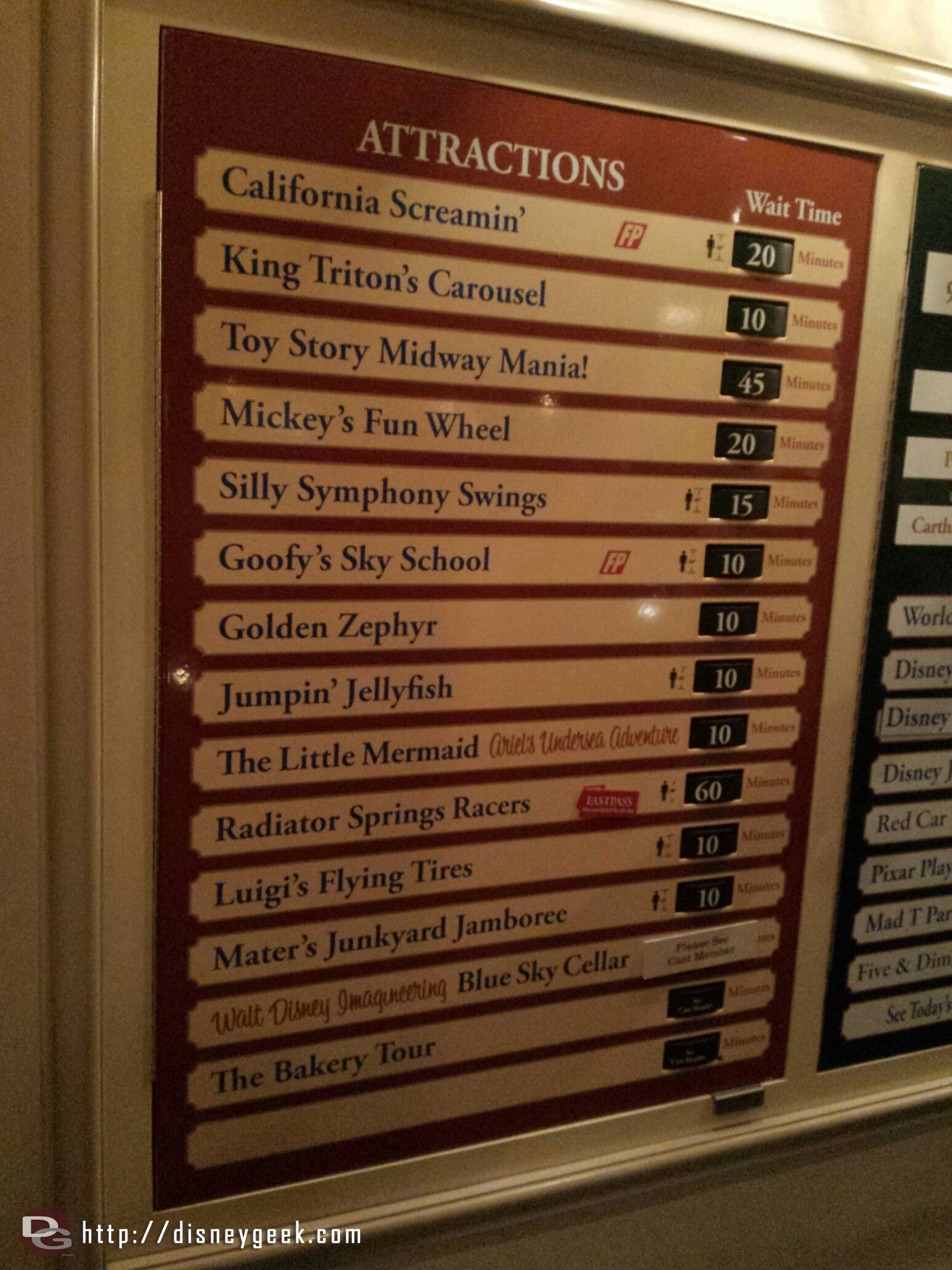 Some DCA waits as of 7:51pm