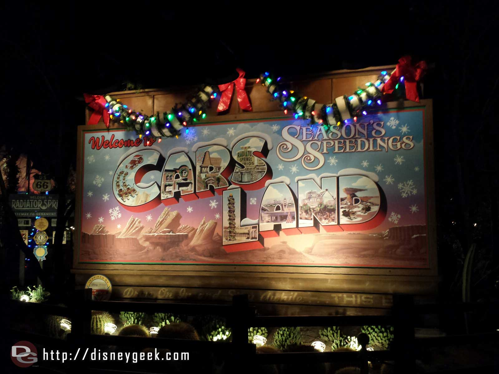 Season's Speedings from #CarsLand