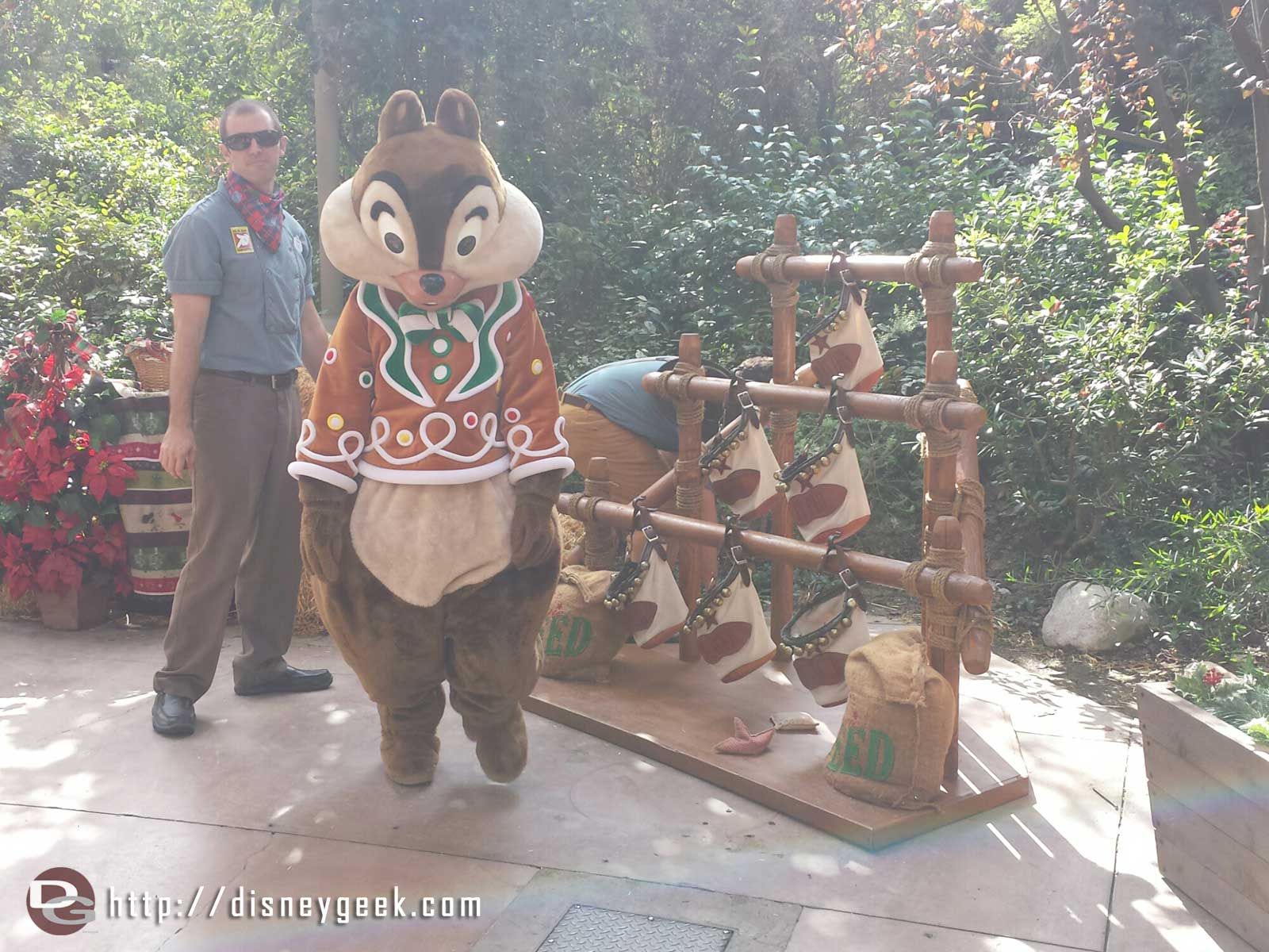 Chip was trying his luck at some Reindeer Games at the Jingle Jangle Jamboree #Disneyland