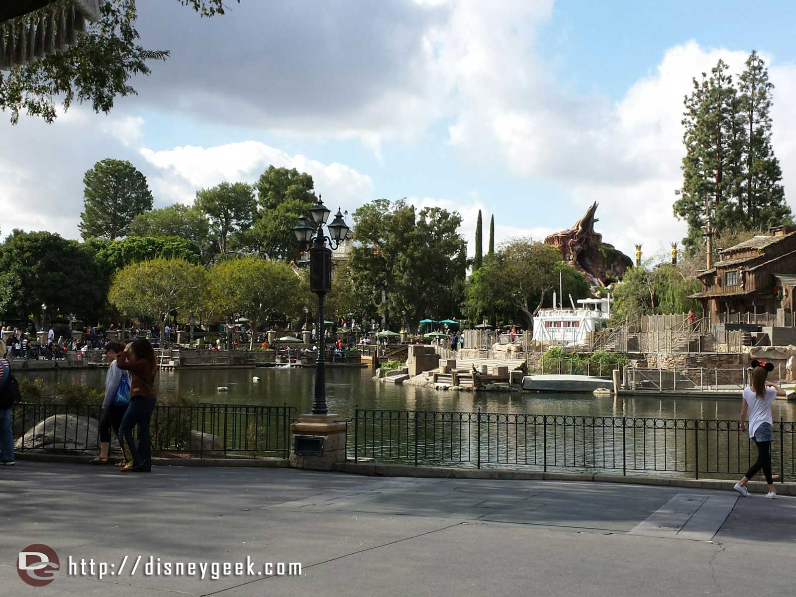 The lunch view today… Rivers of America #Disneyland
