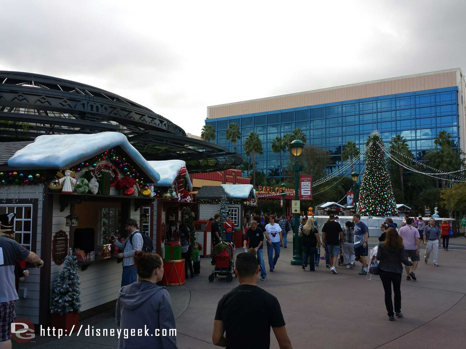 The winter village in Downtown Disney is more spread out this year #Disneyland