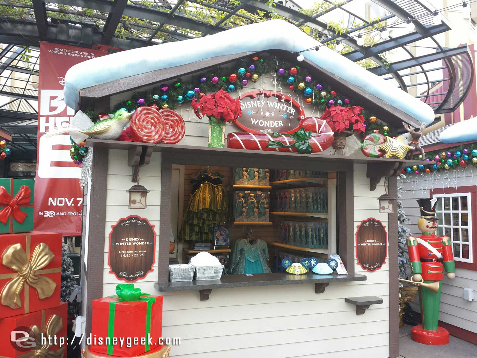 The Disney Winter Wonder store features #Frozen merchandise