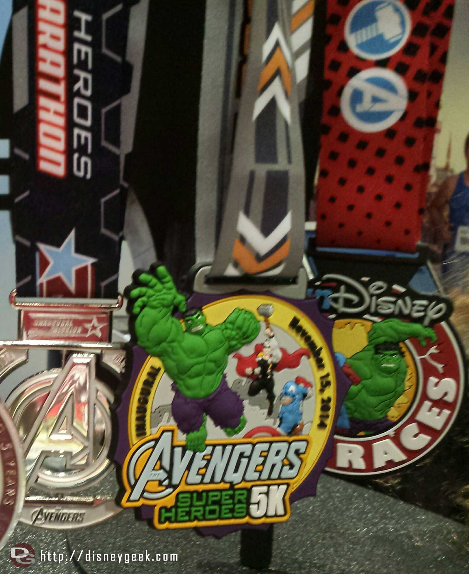 This weekend's Avengers medals #RunDisney