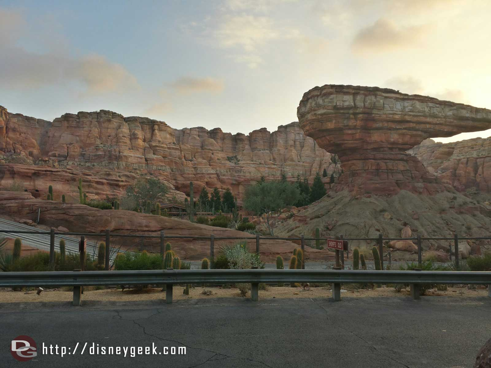 My dinner view this evening, Ornament Valley #CarsLand