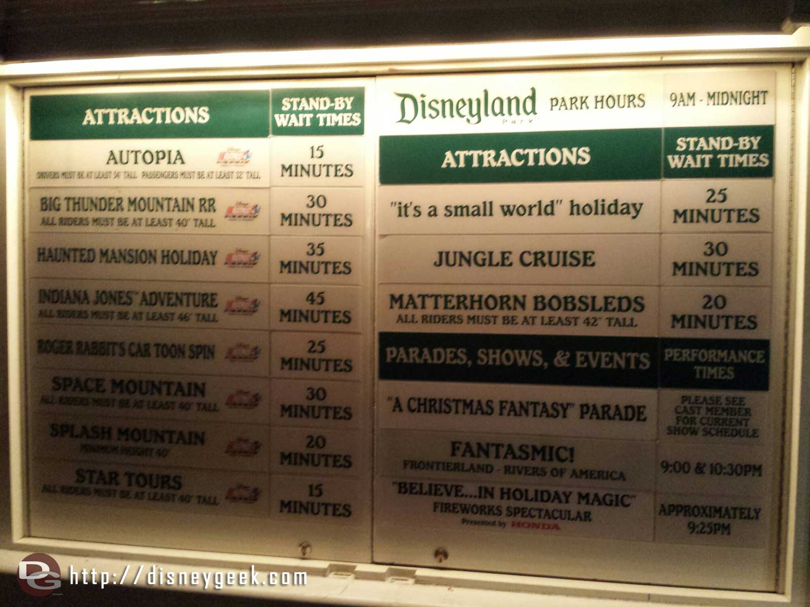 #Disneyland waits as of 5:29pm