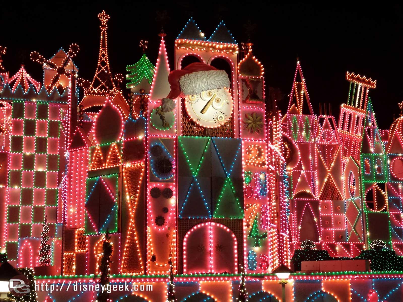 Small World Holiday lights #Disneyland