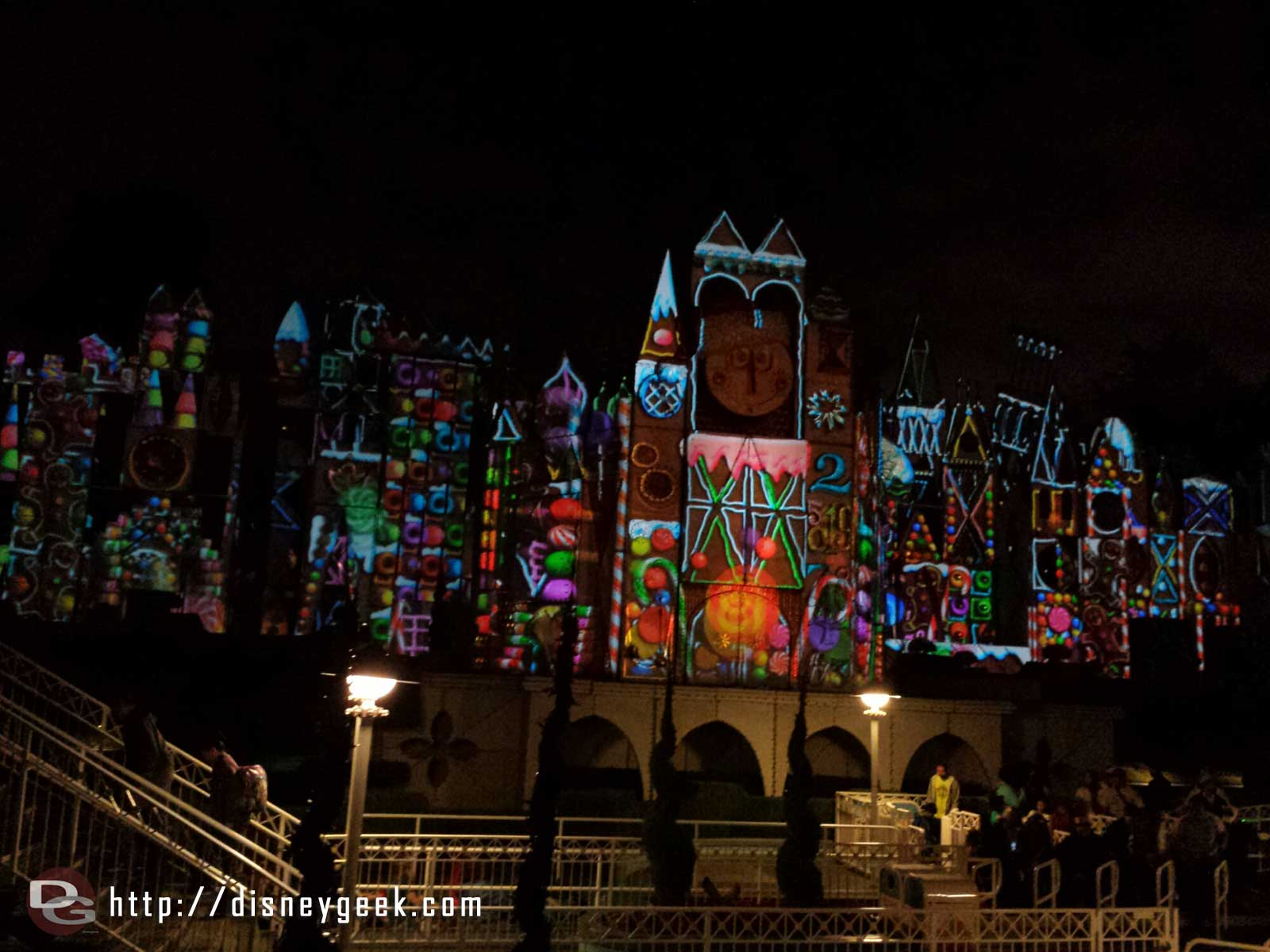 Small World Holiday projections, gingerbread #Disneyland