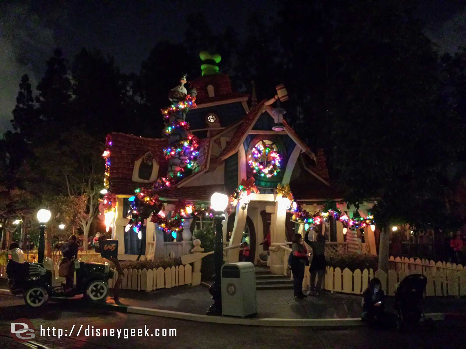 Goofy's House with Christmas lights #Disneyland #ToonTown