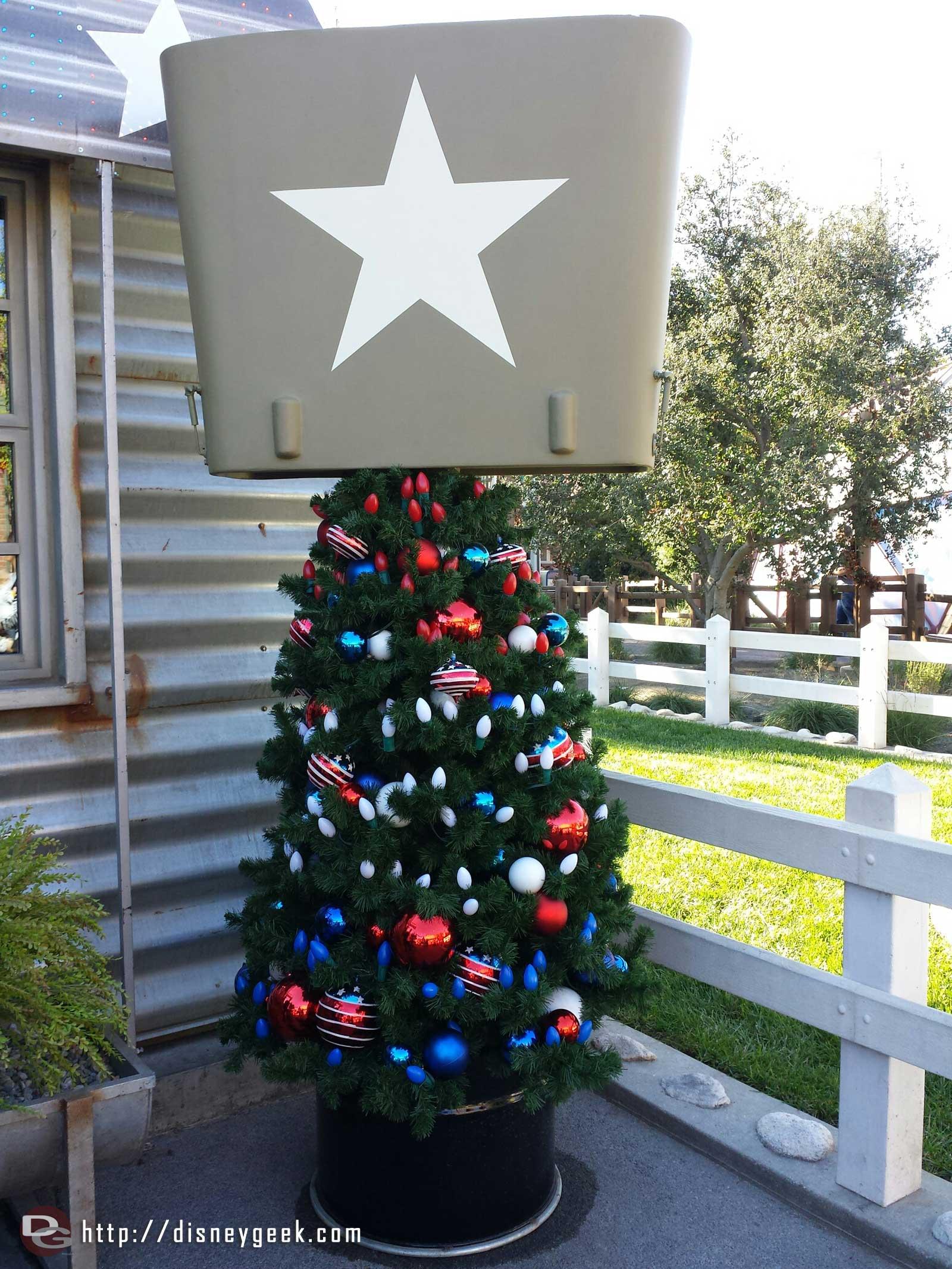 Sarge's Christmas tree #CarsLand