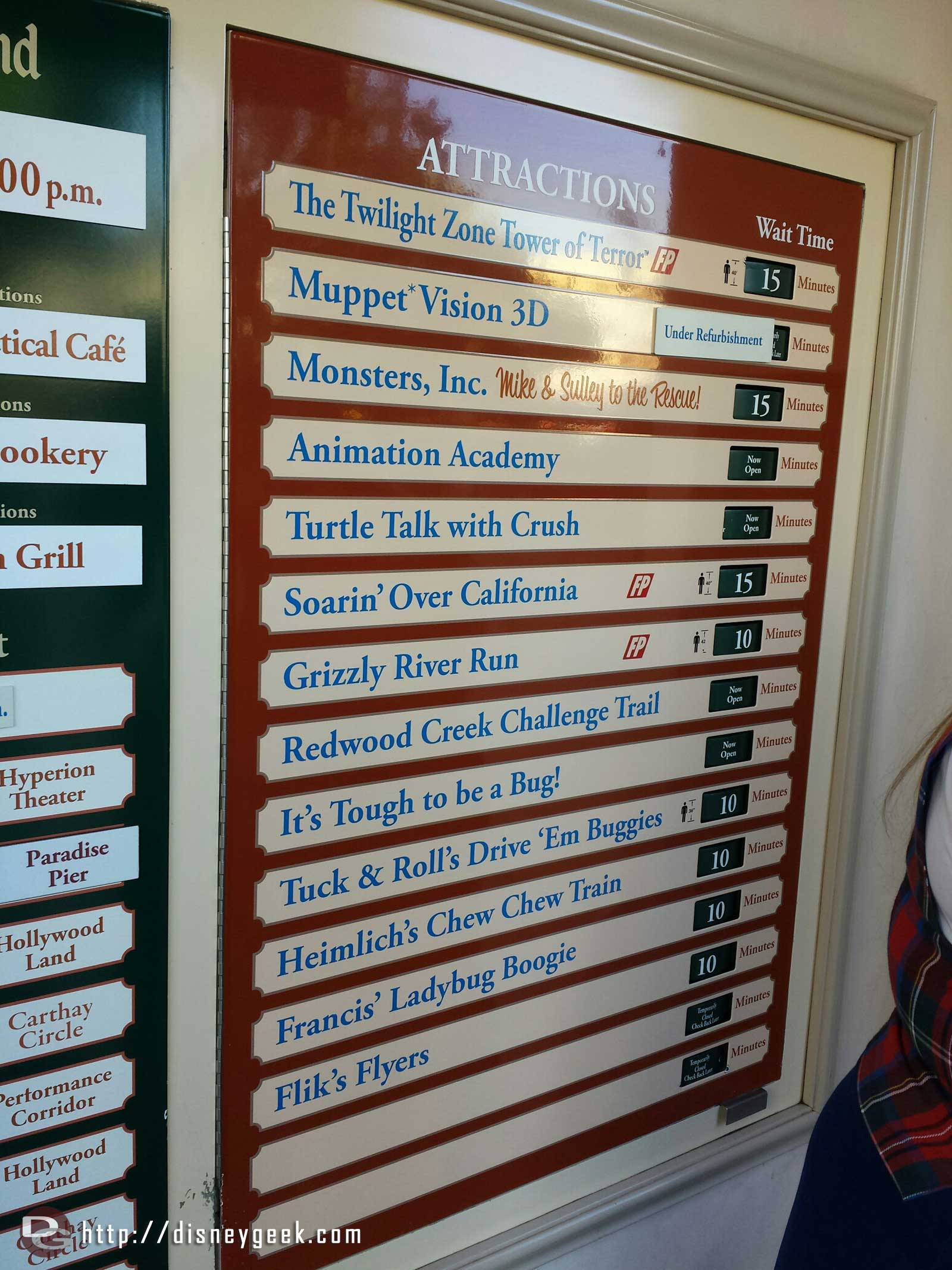 More DCA wait times as of 1:38pm
