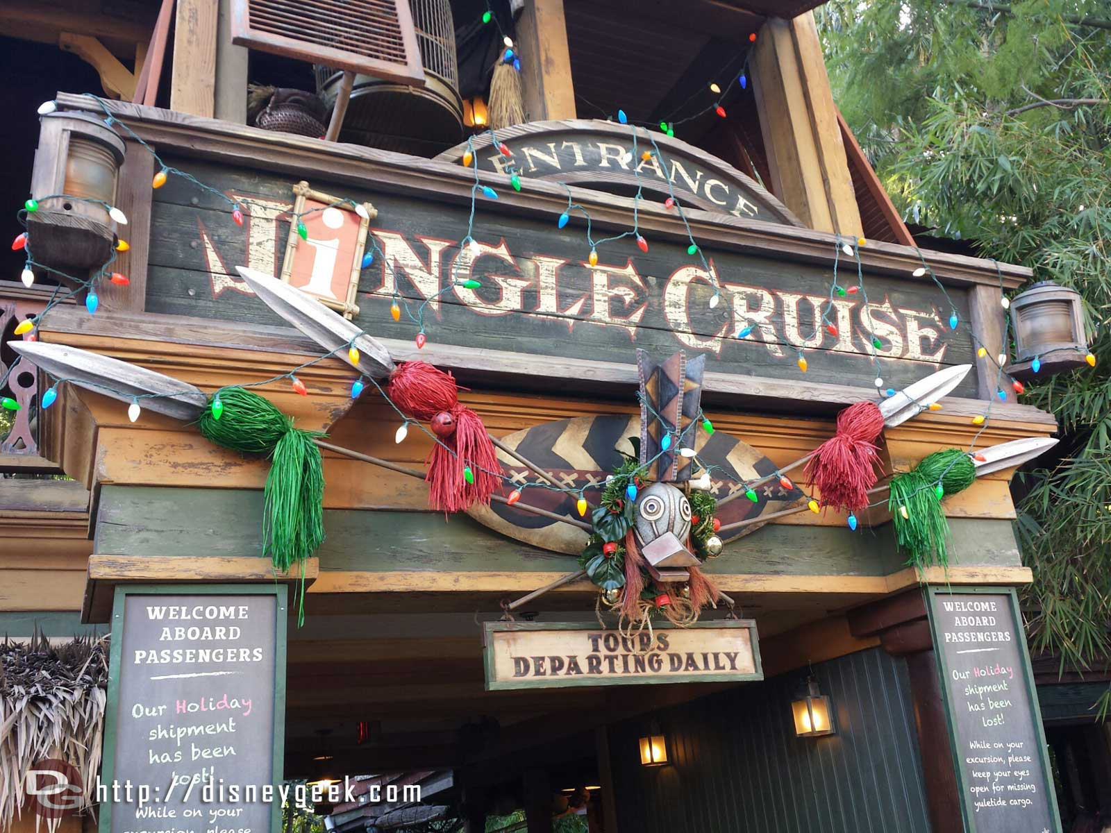 The Jingle Cruise had a posted 30 min wait, turned out to be 15 min only