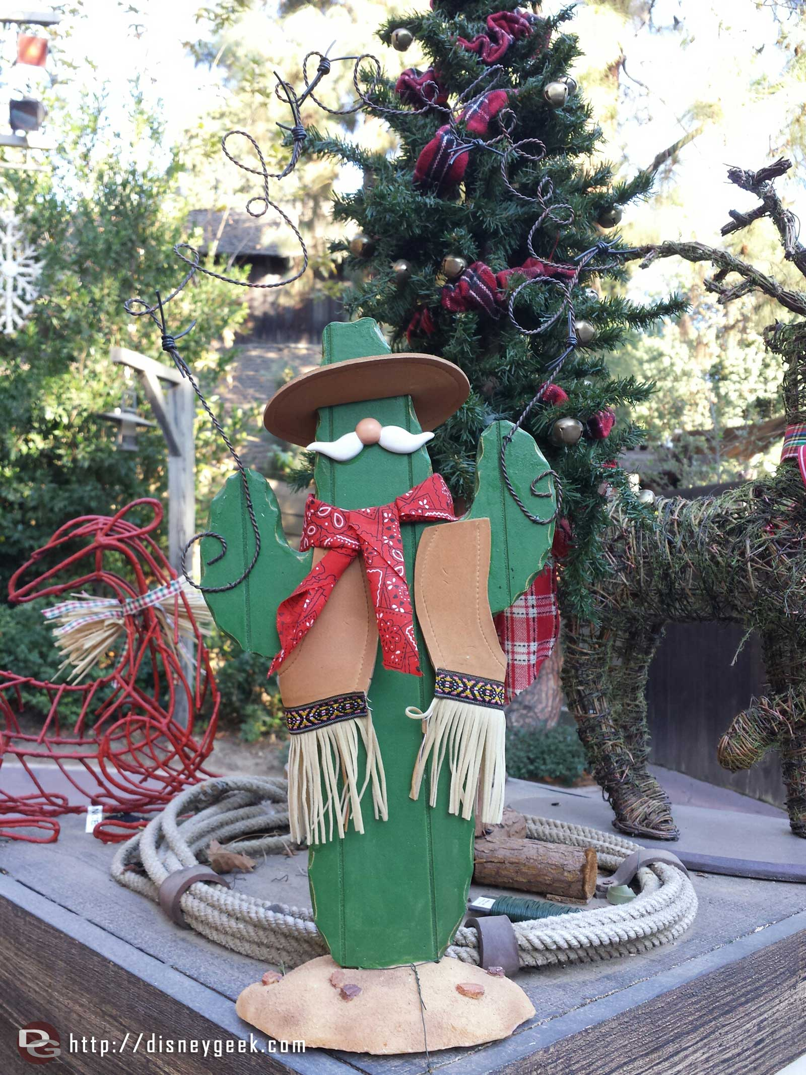 A cactus greets you at the Jingle Jangle Jamboree at the Big Thunder Ranch