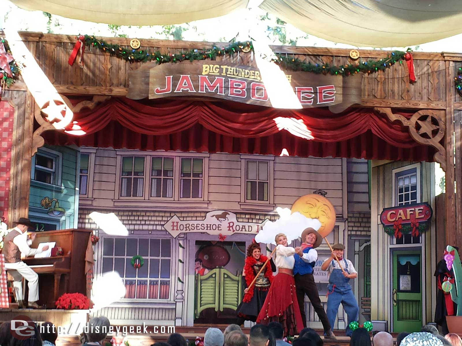 The Plight Before Christmas being performed at the Jingle Jangle Jamboree #Disneyland
