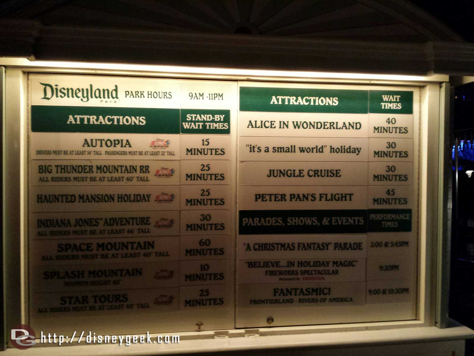 #Disneyland waits as of 7:45pm