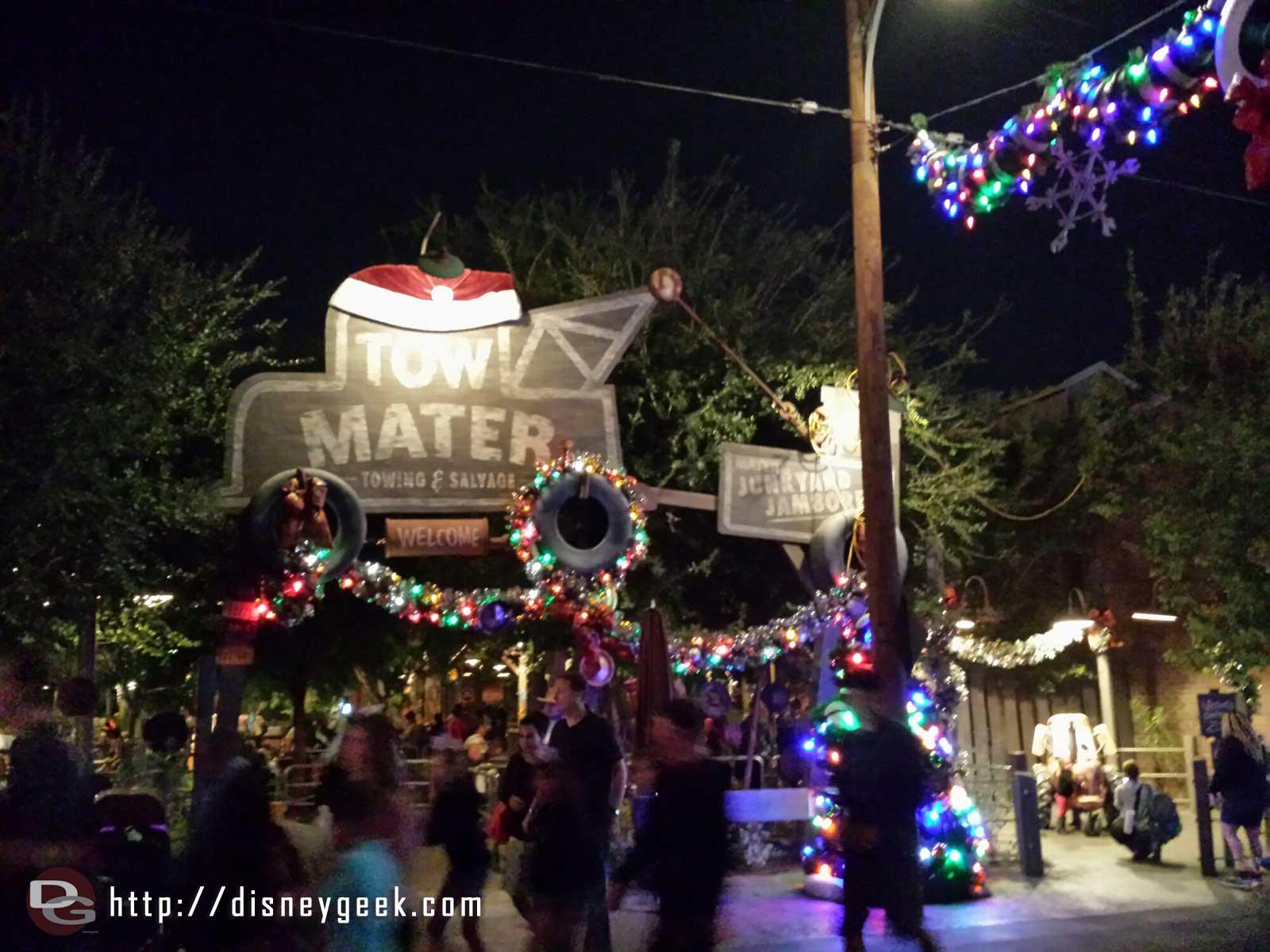 Mater's #CarsLand #Christmas