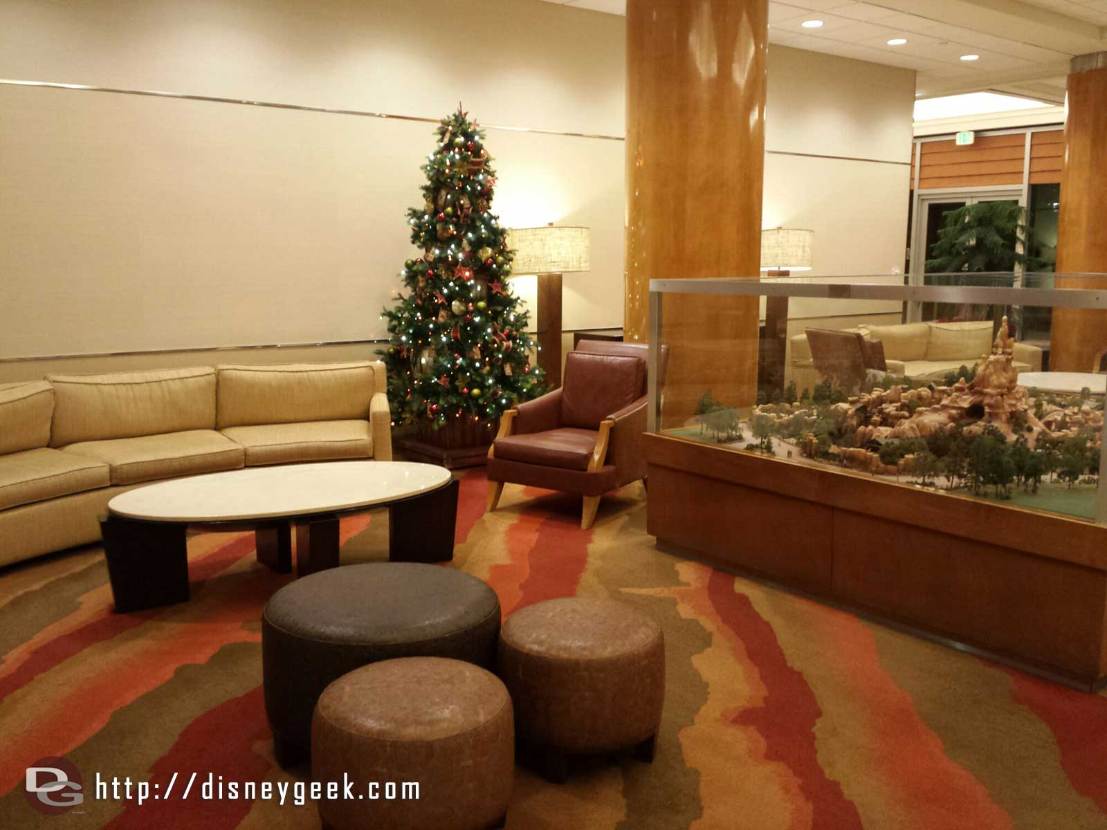 One of the trees in the #Disneyland Hotel Frontier Tower lobby