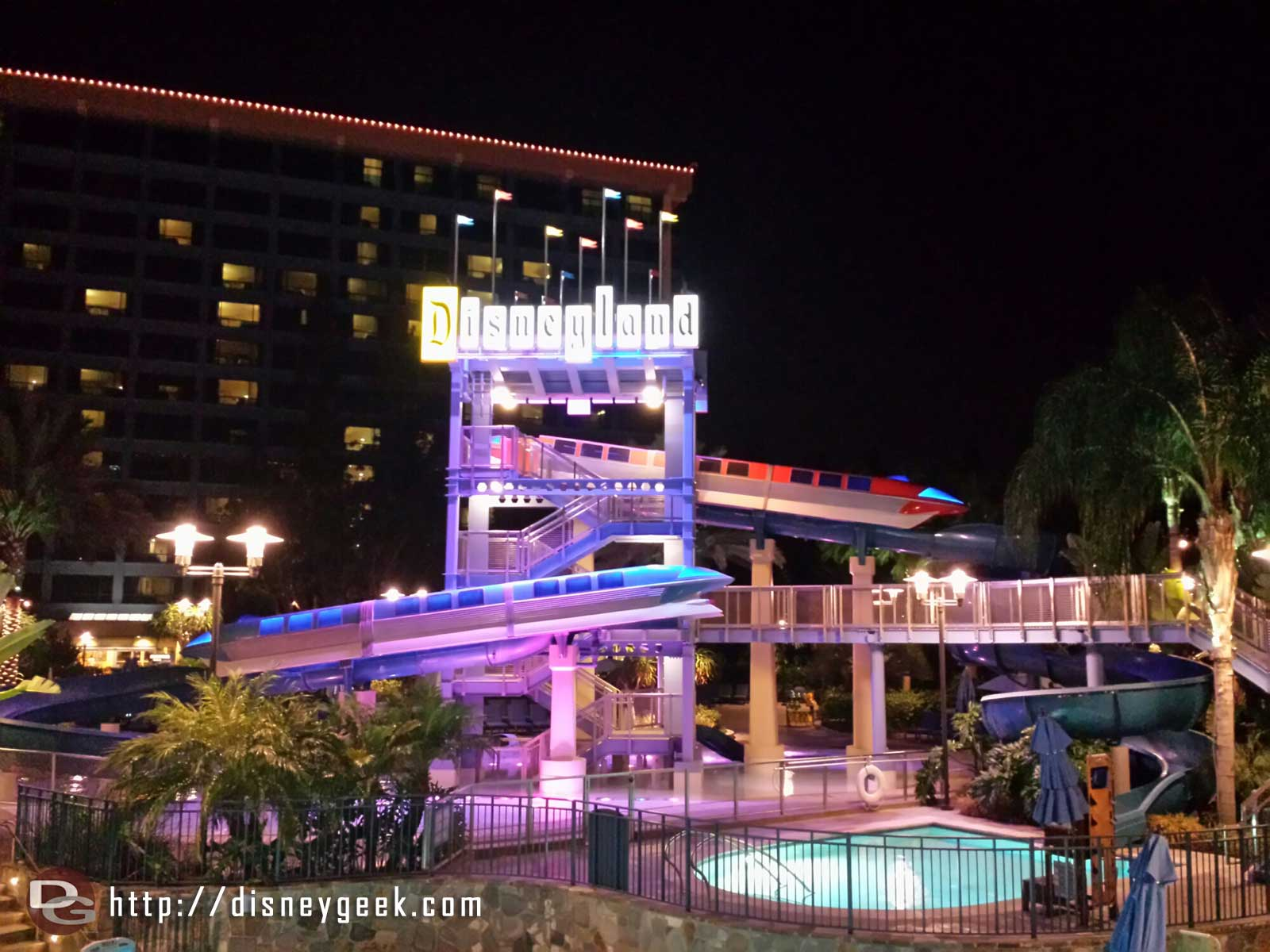 #Disneyland Hotel monorail waterslide