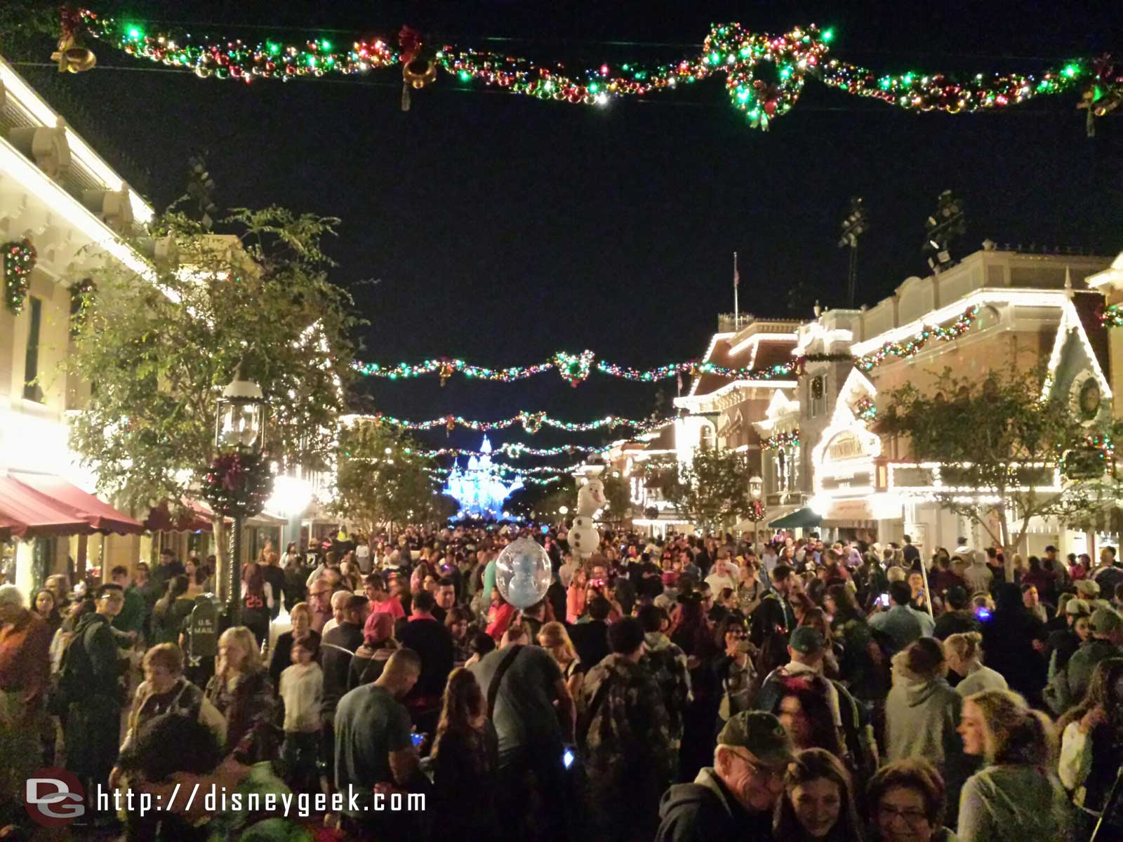Main Street USA this evening #Disneyland