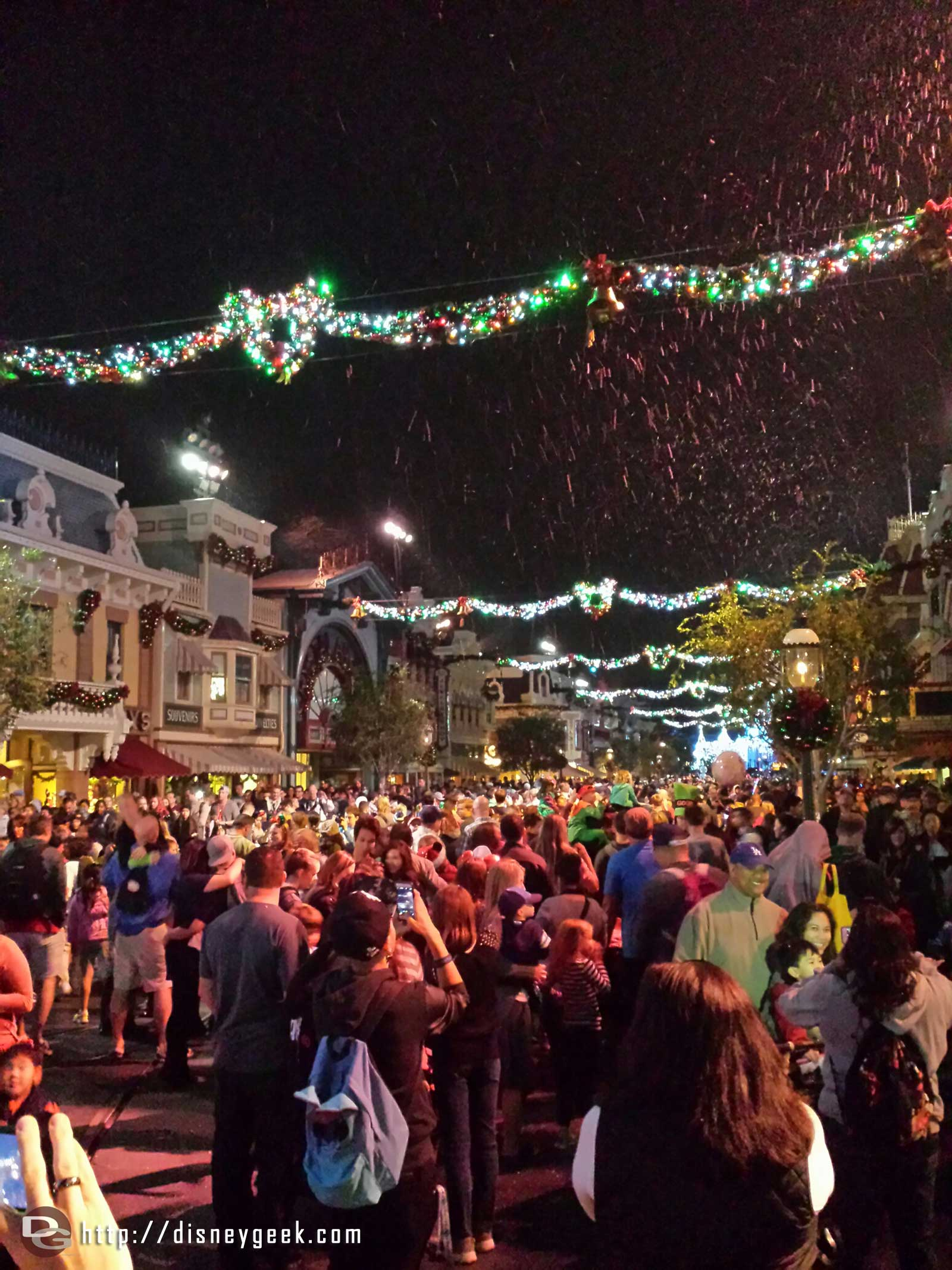 Main Street USA #Disneyland snowfall