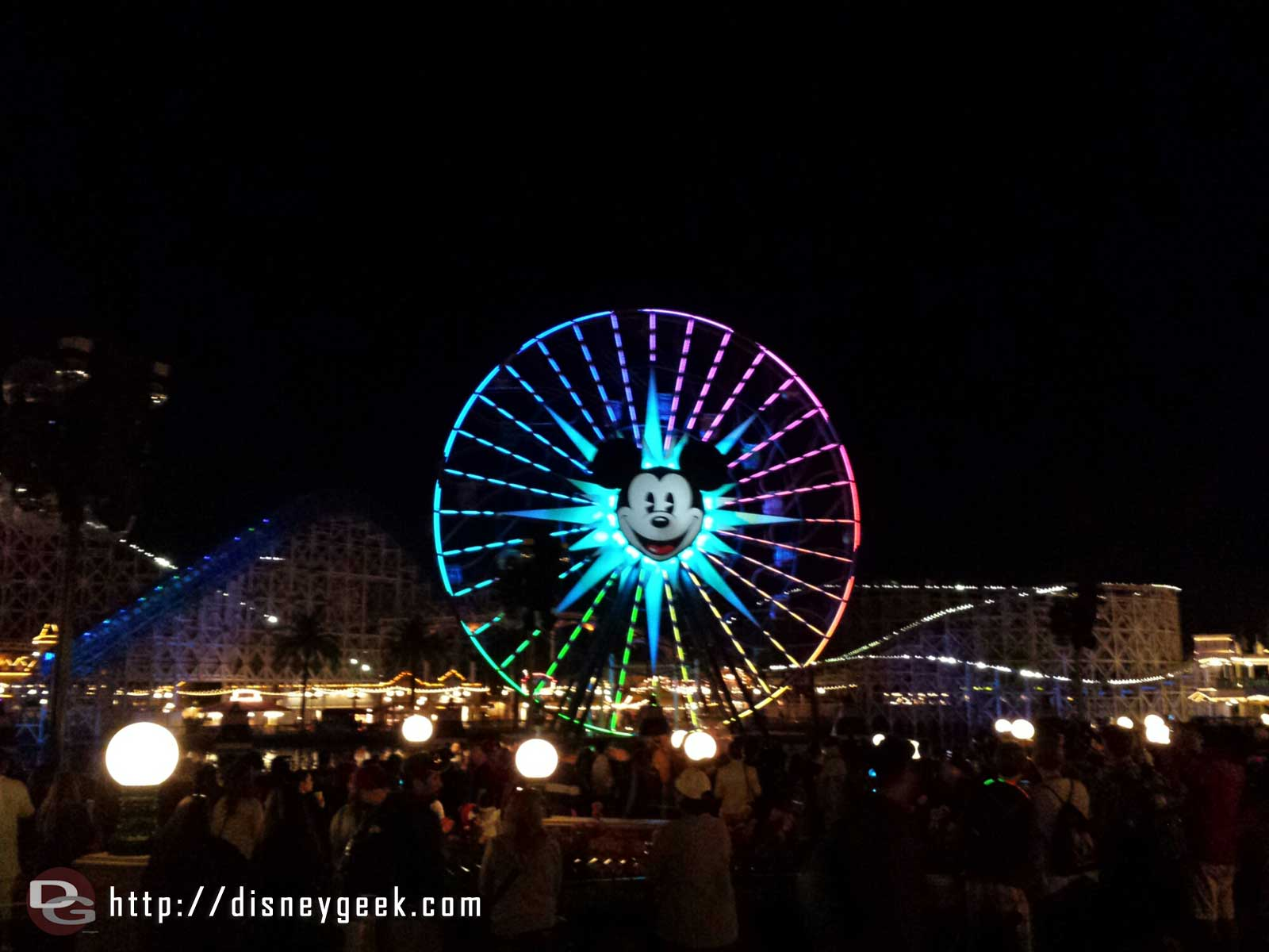 Waiting for World of Color Winter Dreams