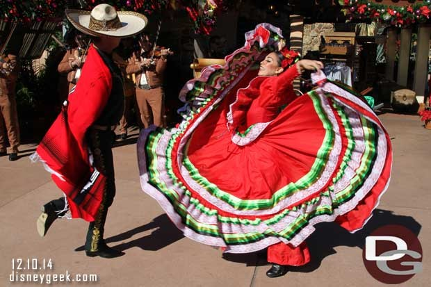 Epcot Holidays Around the World - Mexico - Mariachis and Dancers