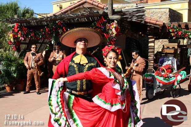 Two dancers join the festivities.