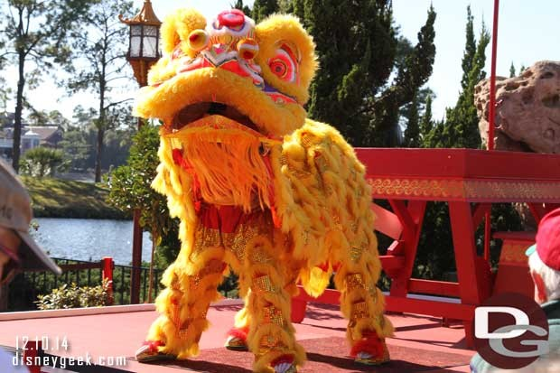 Epcot Holidays Around the World - Chinese Lion Dancers