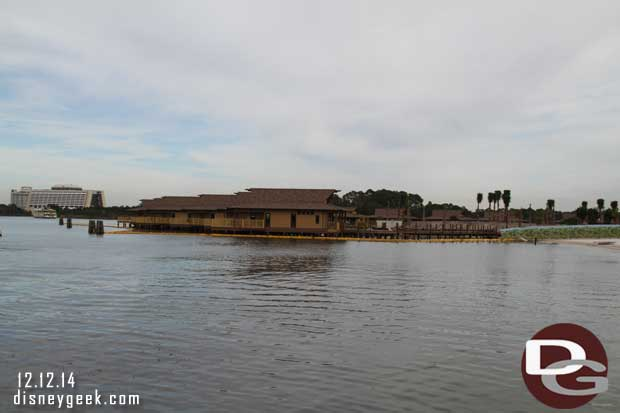 Looking from the launch dock at the Polynesian
