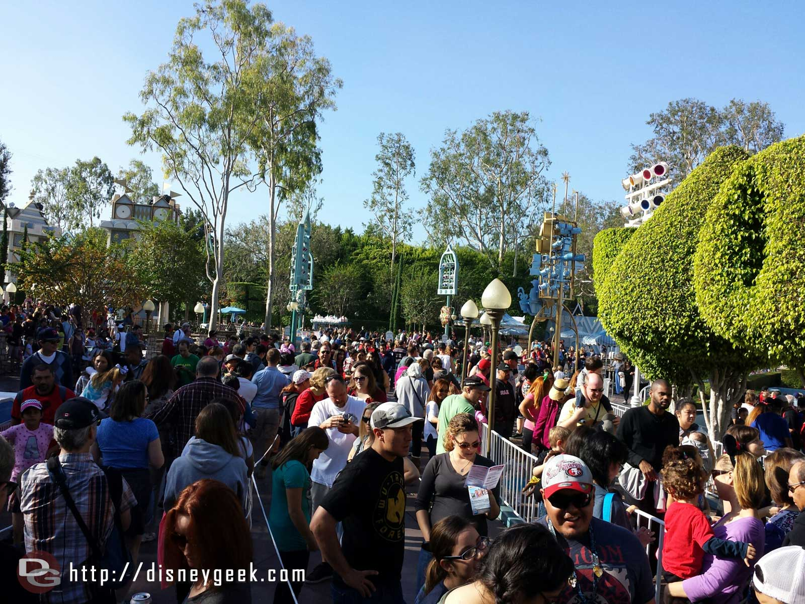 Small World Holiday wait is around 30 min this morning #Disneyland