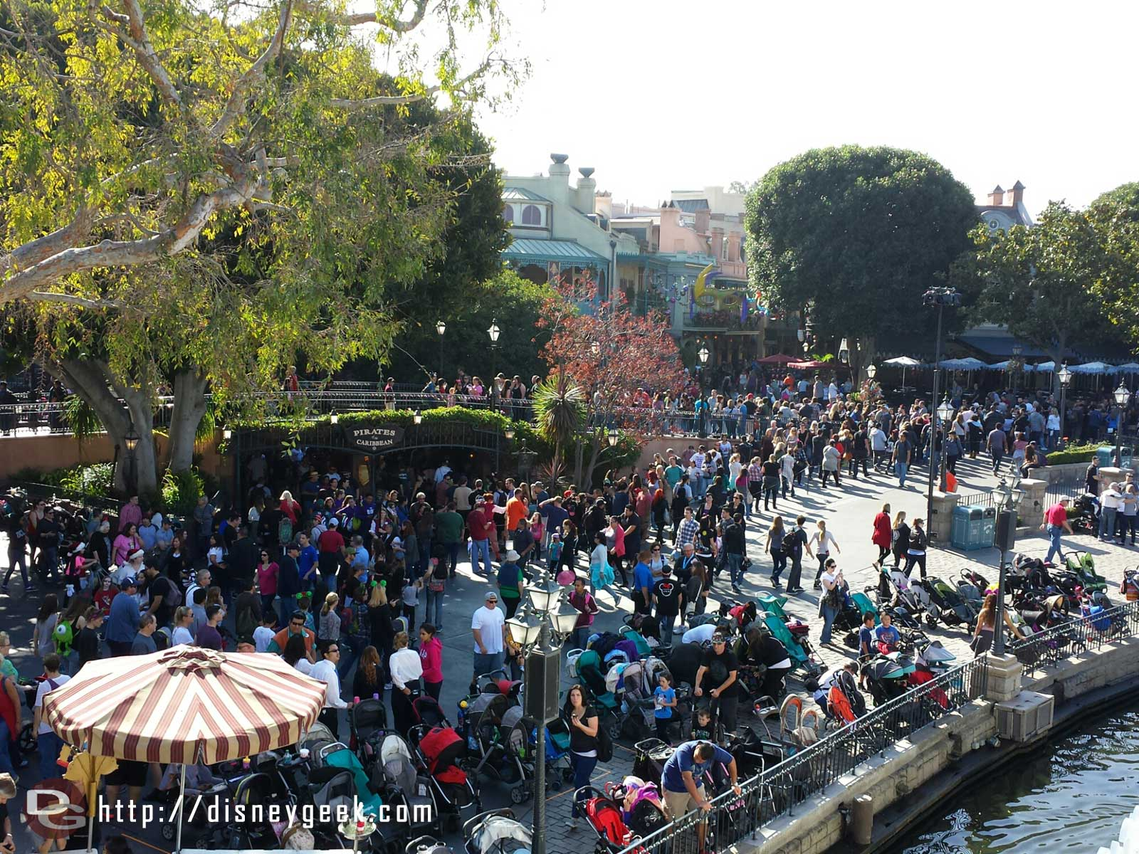 New Orleans Square from the Mark Twain #Disneyland