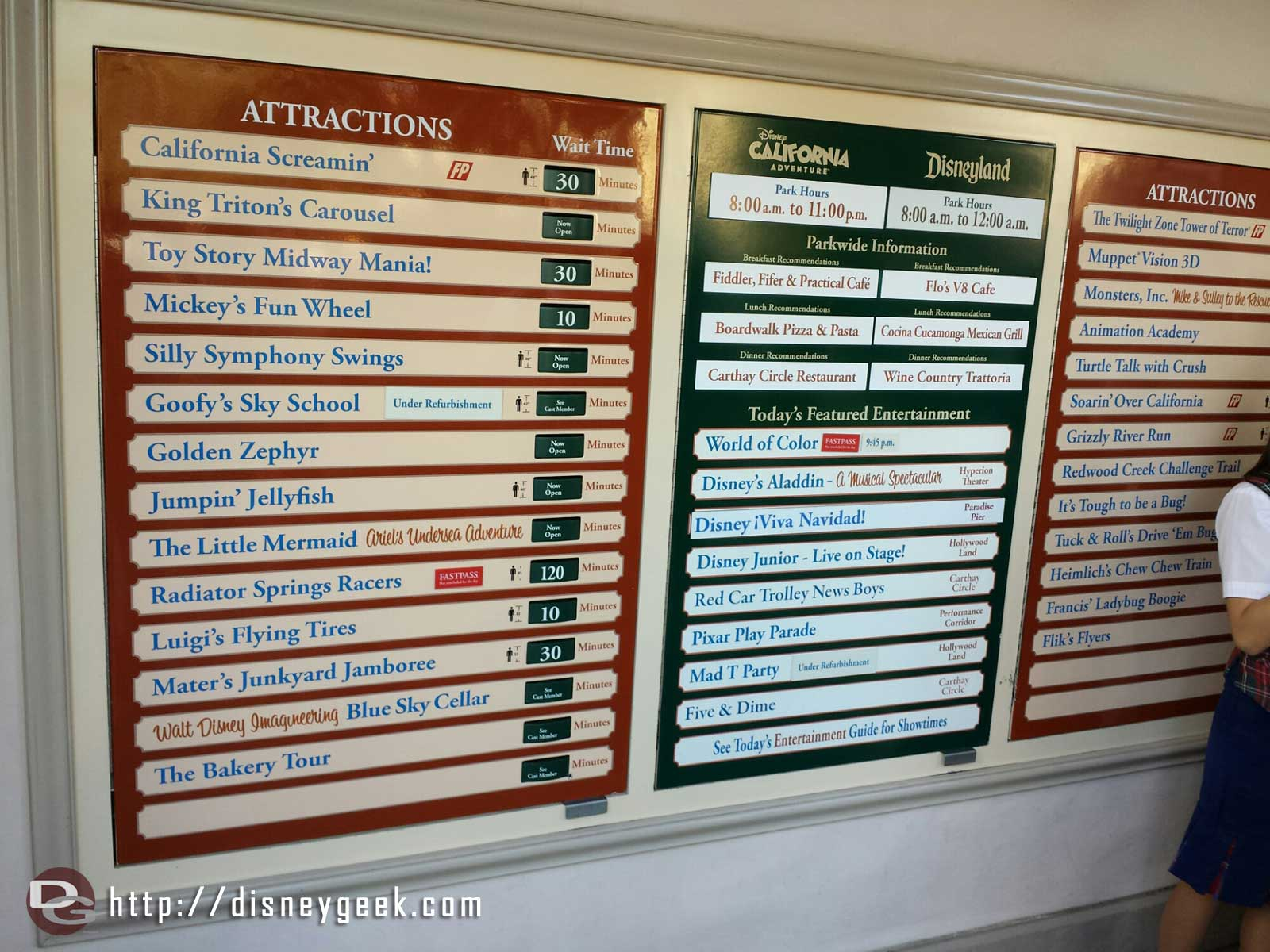 Some DCA waits as of 1:51pm