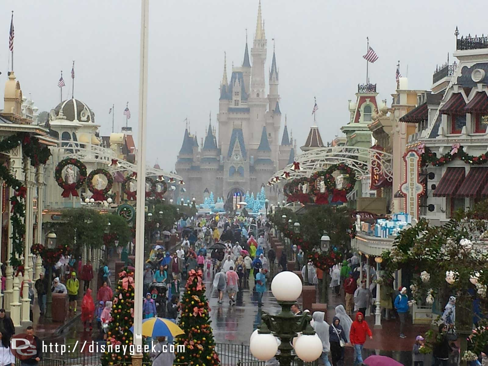 Different park, same weather… Main Street USA at the Magic Kingdom #wdw