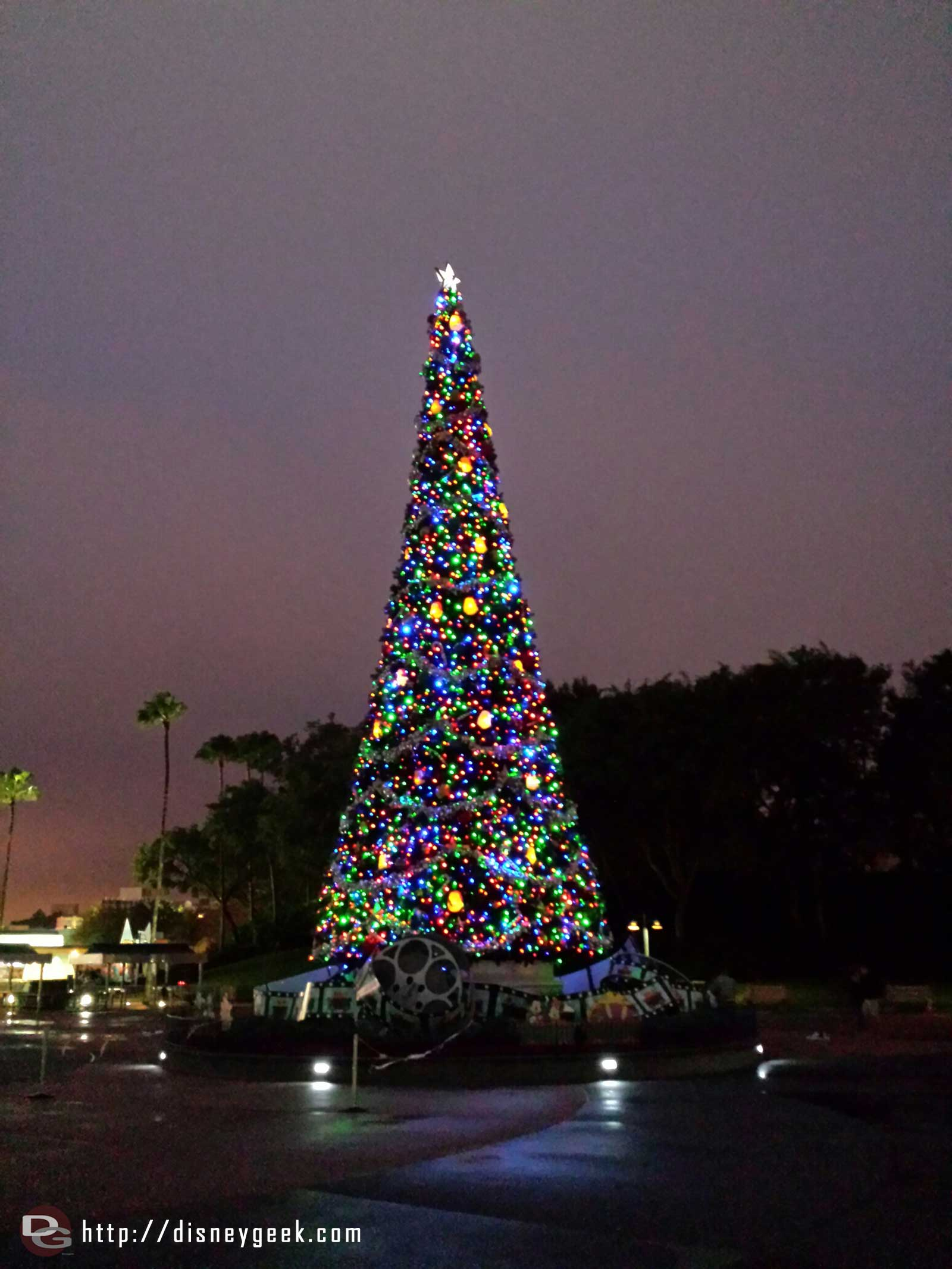 The Disney Hollywood Studios Christmas tree