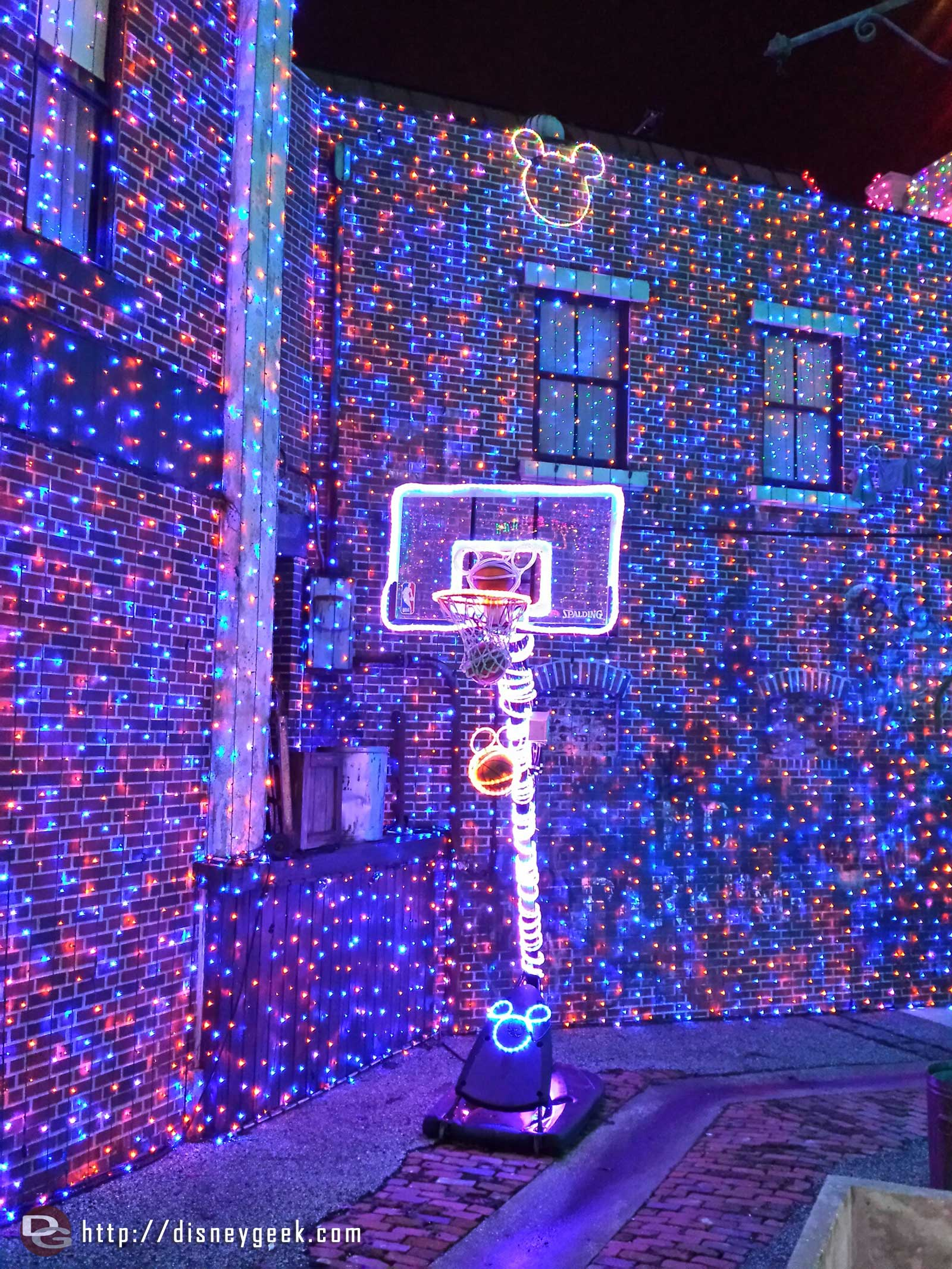Basketball & Hidden Mickeys – Osborne Family Spectacle of Dancing Lights at Disney's Hollywood Studios