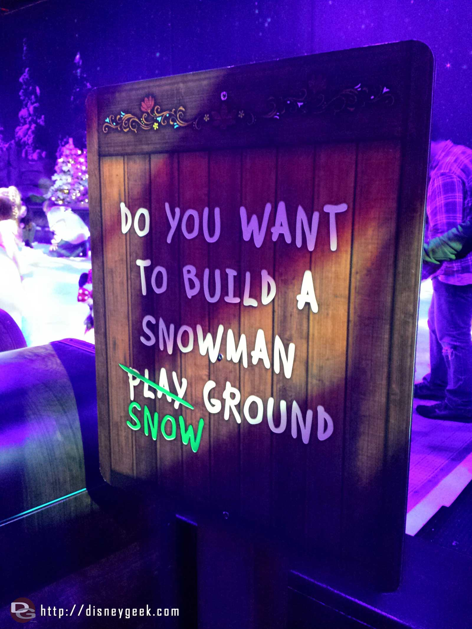 Do you want to build a snowman snow ground sign