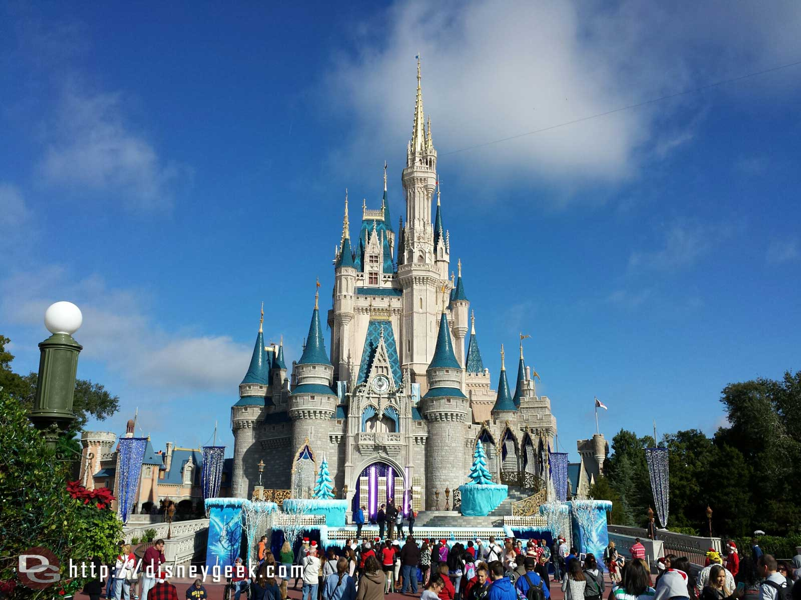 Cinderella Castle this morning #wdw