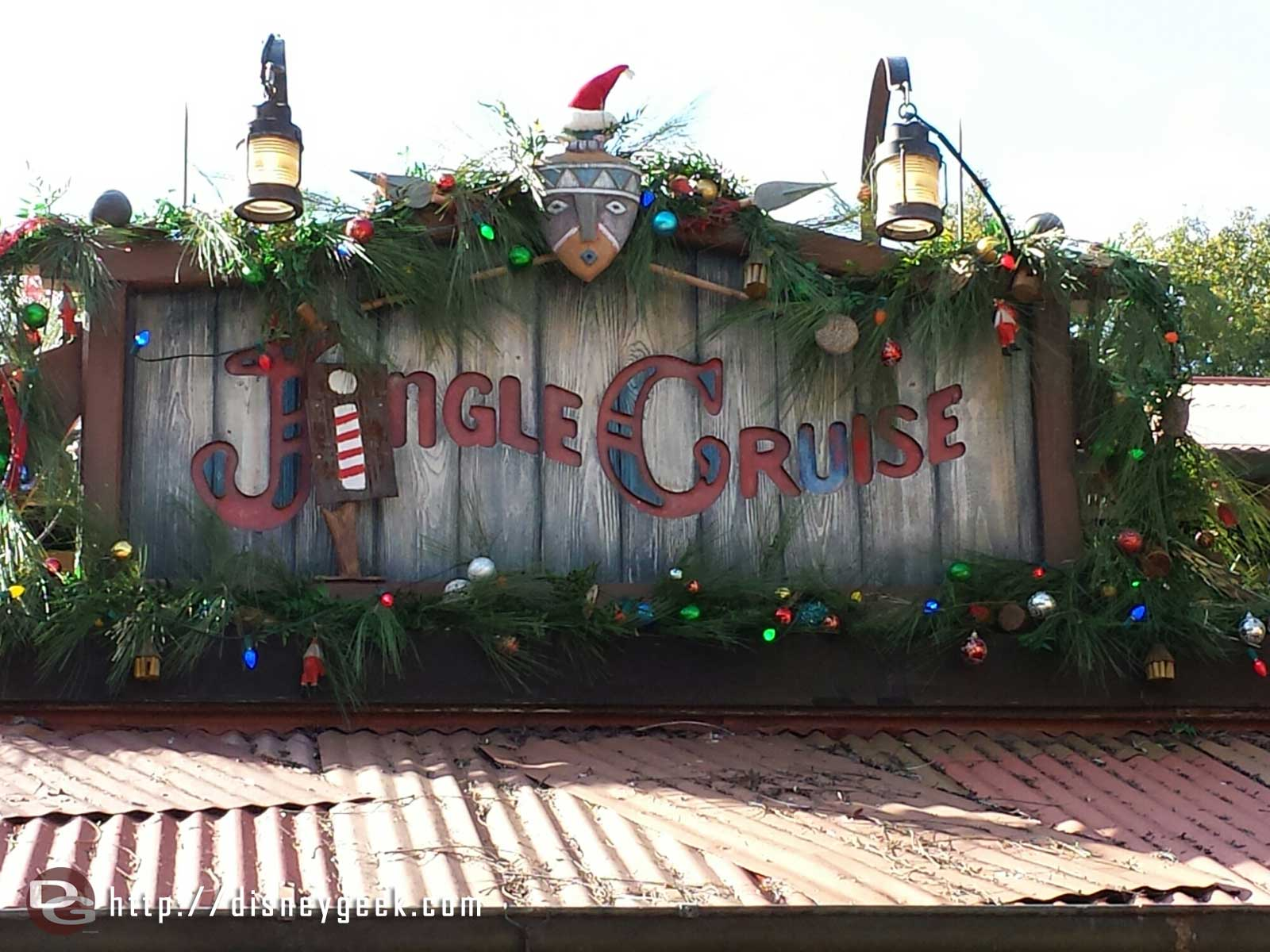 Checking out the east coast Jingle Cruise #wdw (25 min wait posted)