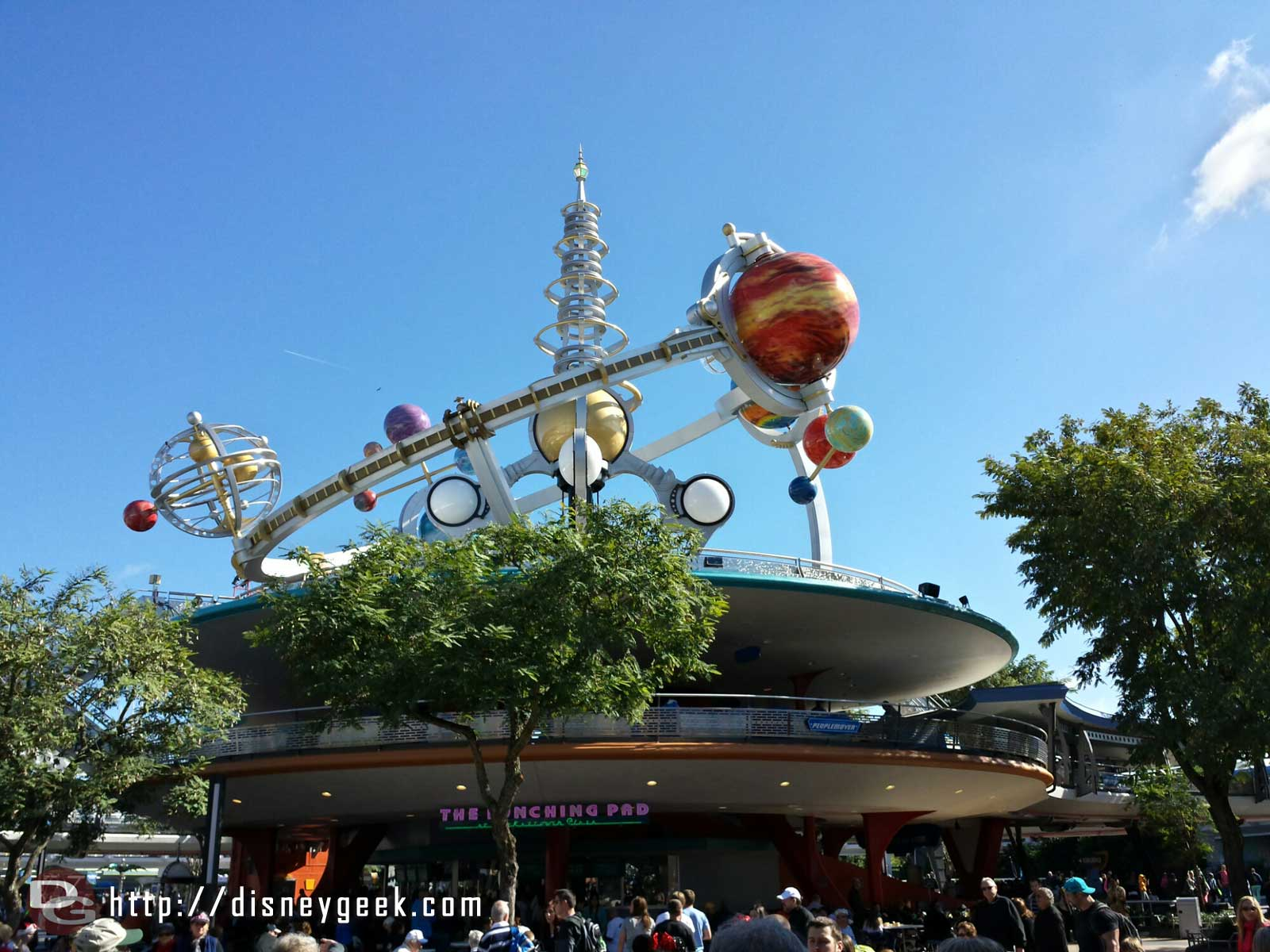 Walking into Tomorrowland, the Astro Orbitor #WDW
