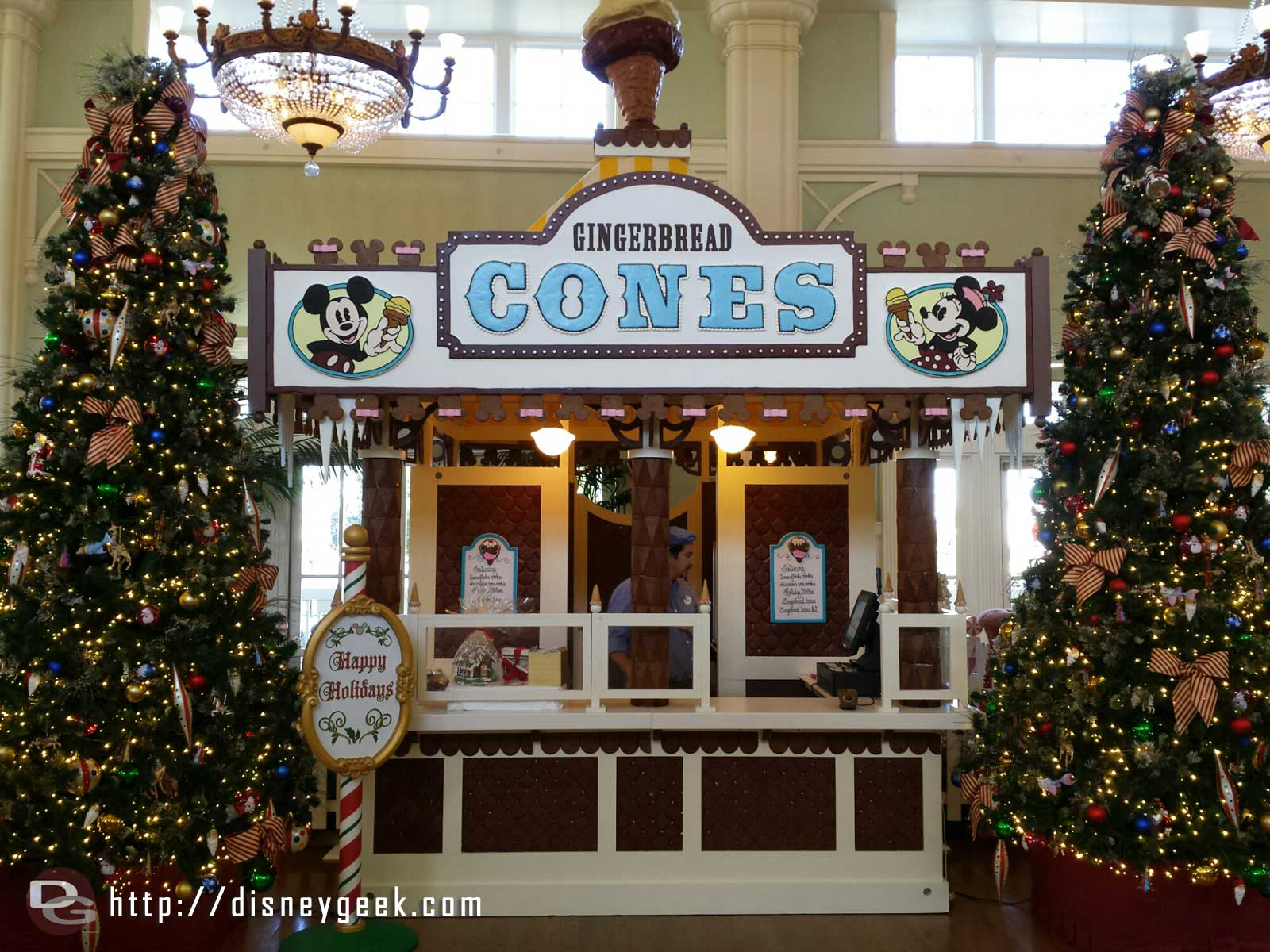 Disney's Boardwalk Resort lobby Gingerbread Cones stand