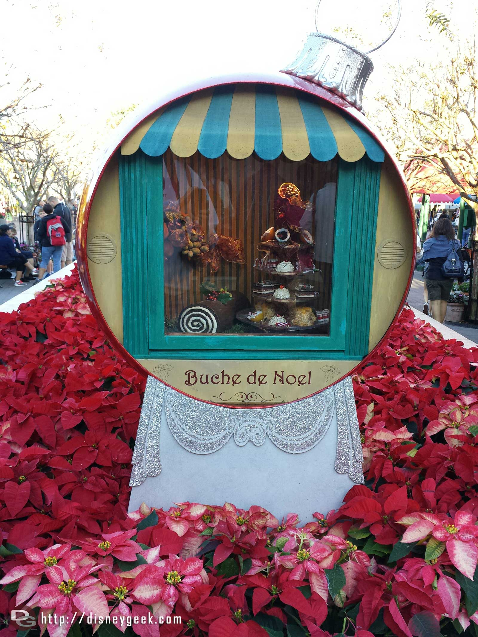 Buche de Noel display in France, #Epcot World Showcase