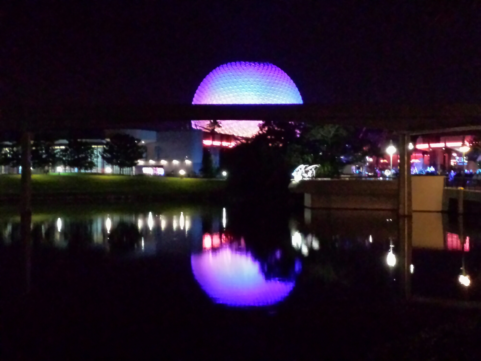 Spaceship Earth with reflection #Epcot