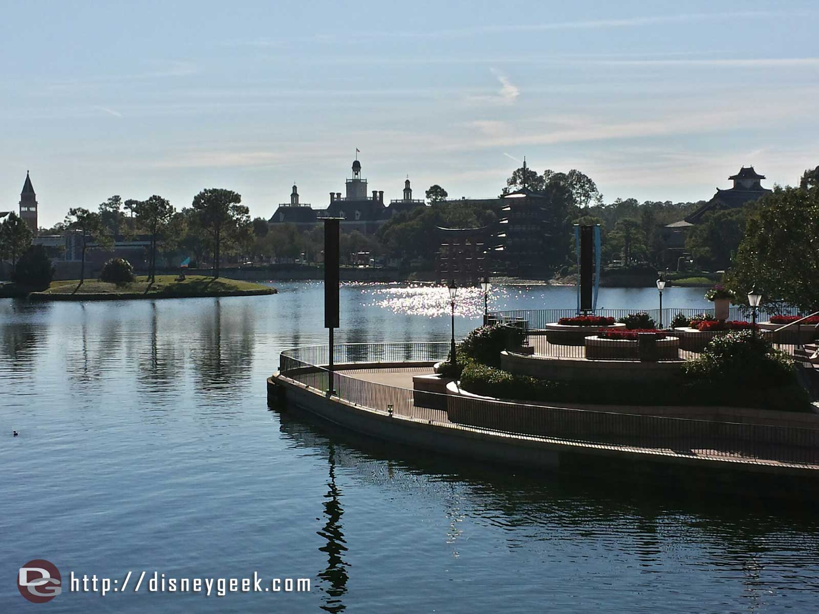 World Showcase lagoon on this quiet, cool morning #Epcot